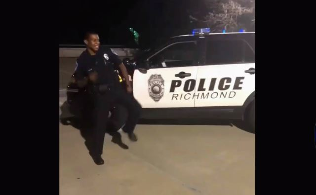 VIDEO: Richmond Police officer takes on the 'Git Up' dance