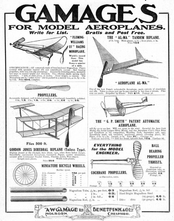 Vintage Rubber Band-Powered Flyer