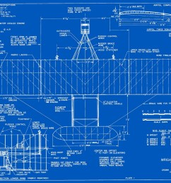 measured drawings of the 1903 wright flyer plate 1 top view  [ 1500 x 1163 Pixel ]