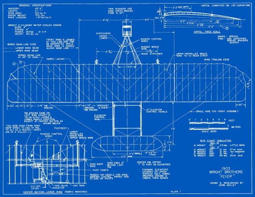 small resolution of measured drawings of the 1903 wright flyer plate 1 top view