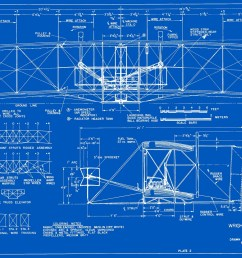 measured drawings of the 1903 wright flyer plate 2 front and side views  [ 1500 x 1163 Pixel ]