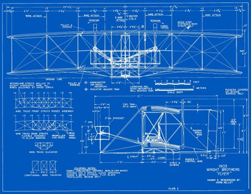 small resolution of measured drawings of the 1903 wright flyer plate 2 front and side views