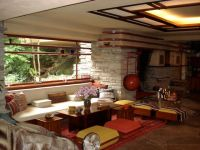 Fallingwater living room picture, Frank Lloyd Wright