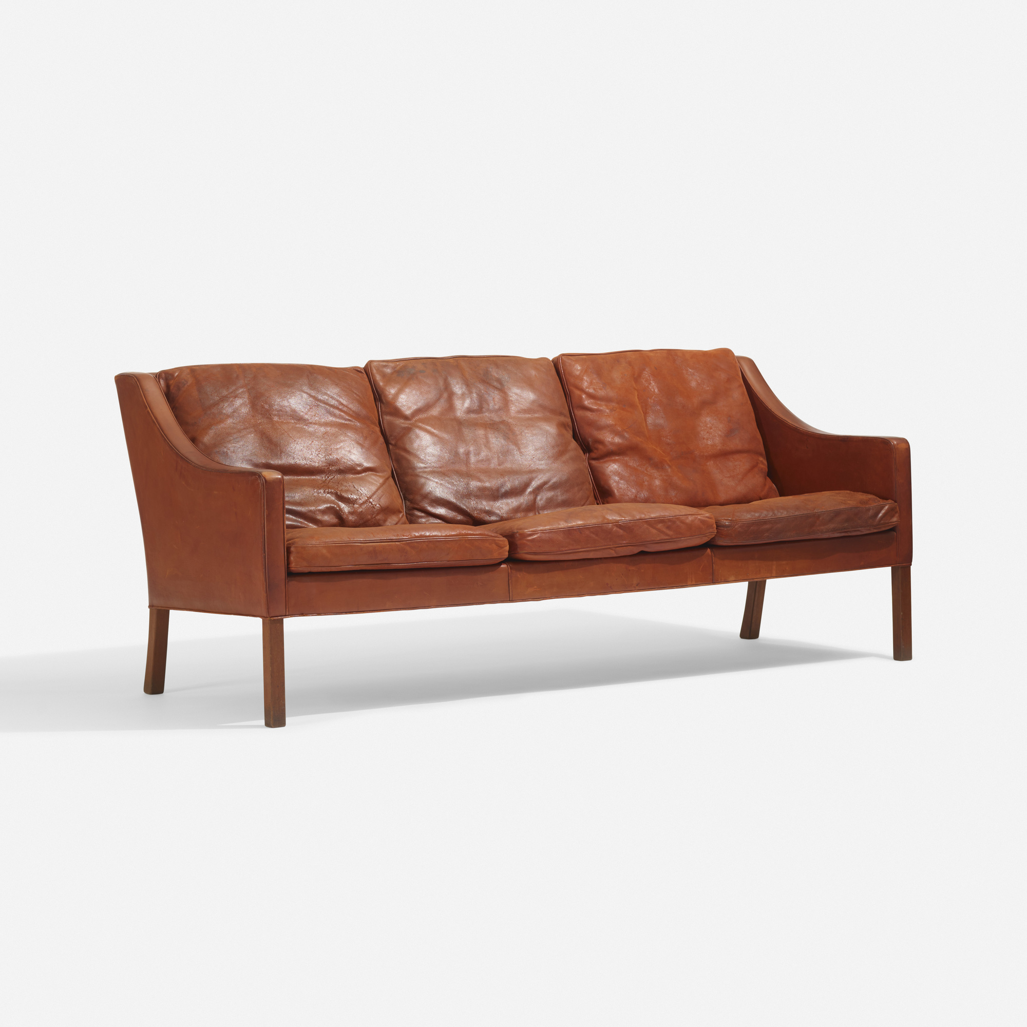 borge mogensen sofa model 2209 mid century tufted linen sleeper convertible by madison home usa vintage black leather