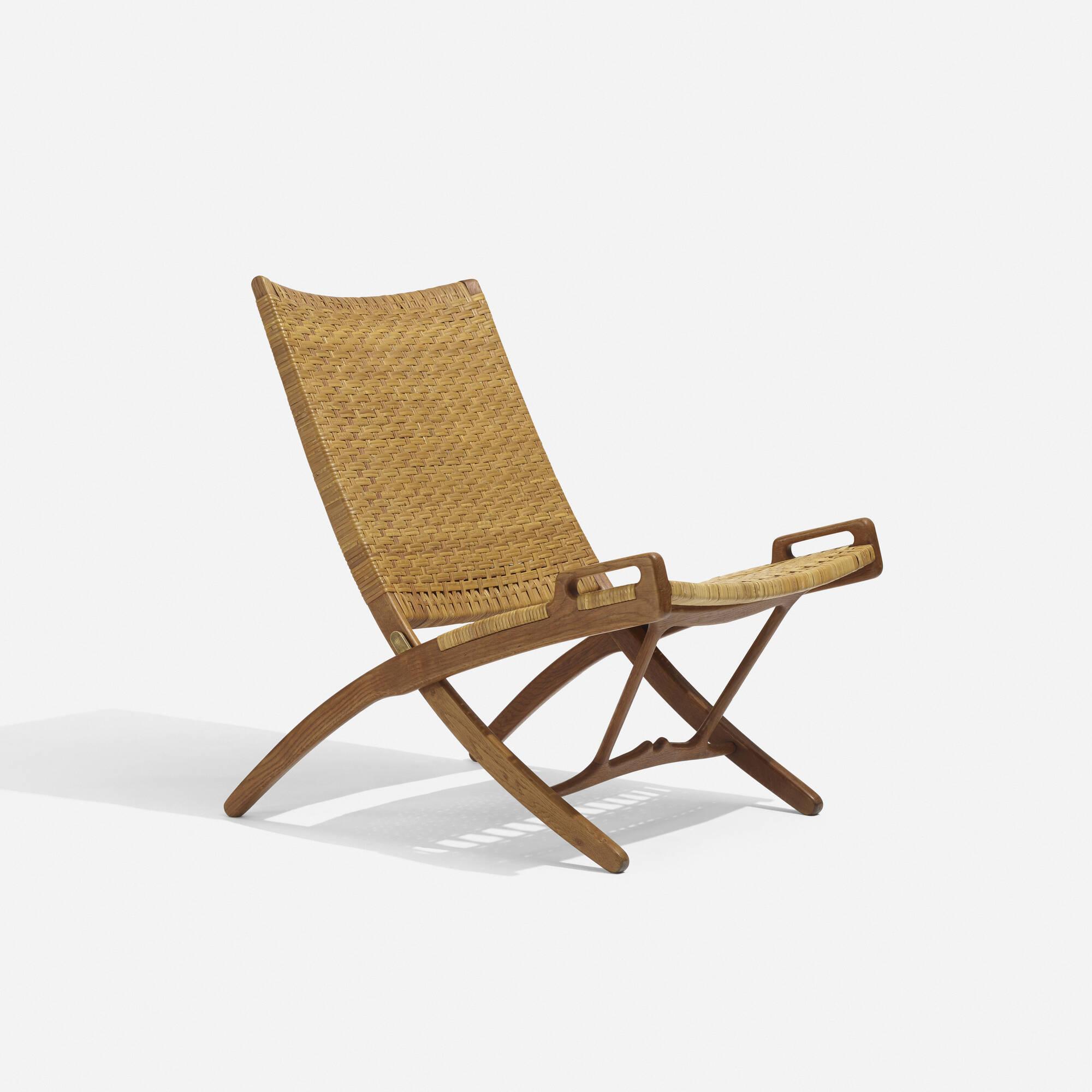 folding chair auction white wood desk 125 hans j wegner