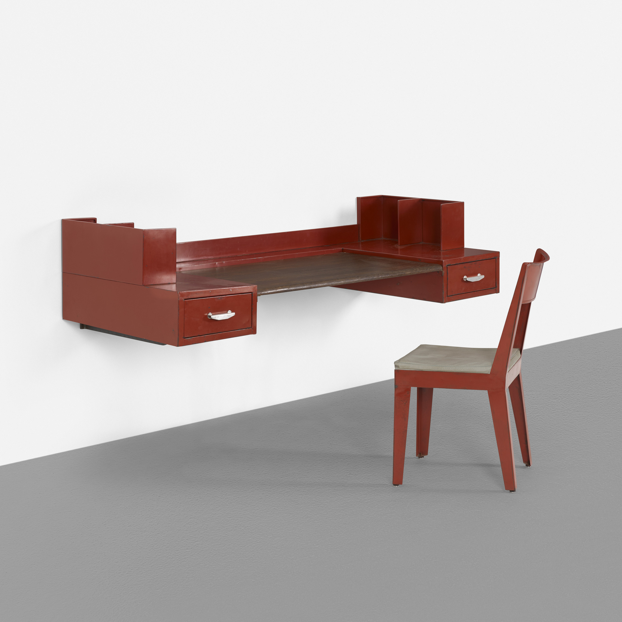 wall mounted chair modern office 129 jean prouvÉ and jules leleu desk