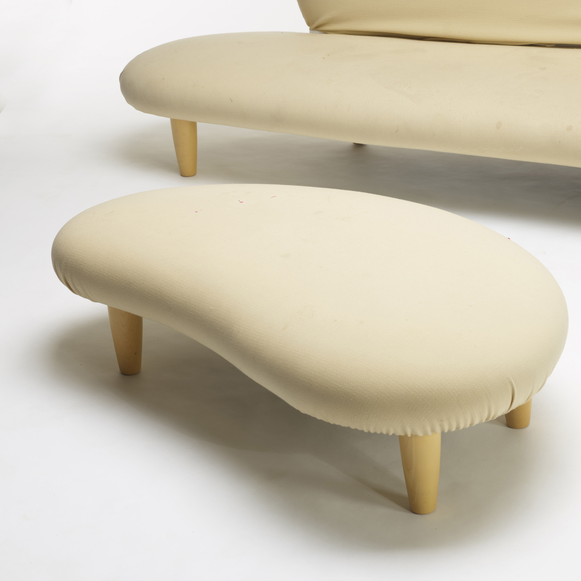 noguchi sofa reproduction curved sectional set isamu 120 rare cloud ottoman