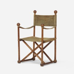 Folding Chair Auction Rattan Wingback Chairs 167 French Campaign Style