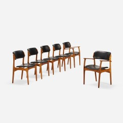 Erik Buck Chairs Bedroom Lounge Chair Ottoman 187 Dining Model Od 49 Set Of Six Mass Modern 1 4