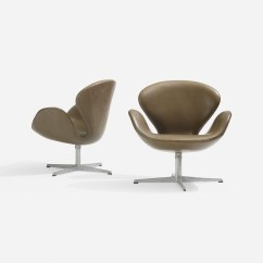 Arne Jacobsen Swan Chair Office For Sciatica 204 Chairs Pair Scandinavian Design 18 2 Of 3