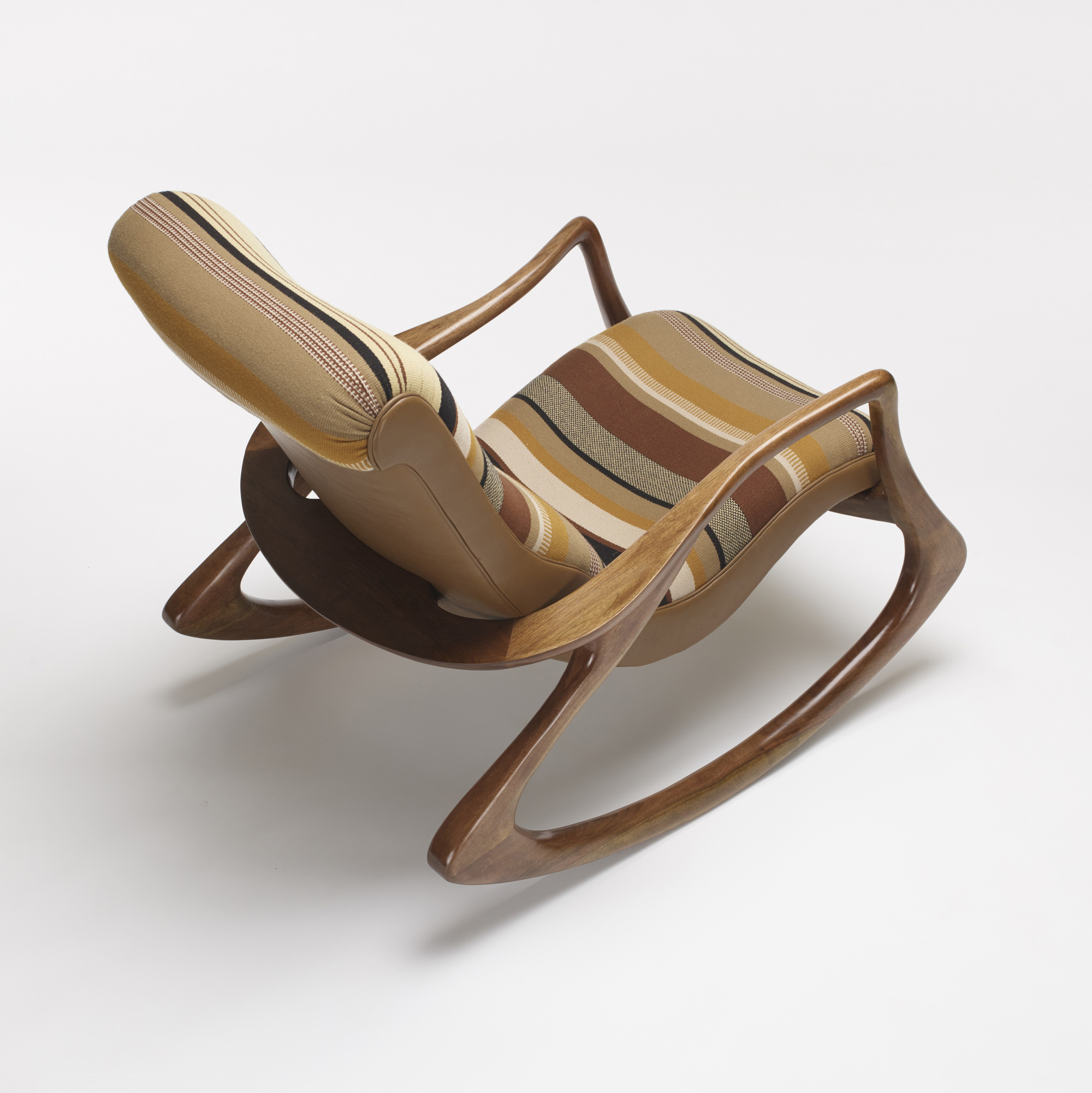 vladimir kagan rocking chair isaac swivel 213 sculpted and ottoman important 3 of 4