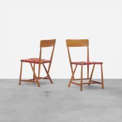 Chair Design With Handle Adjustable Beach 254 Wharton Esherick Hammer Chairs Pair