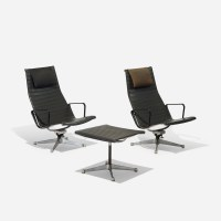 261: CHARLES AND RAY EAMES, Aluminum Group lounge chair ...