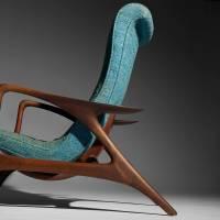 290: VLADIMIR KAGAN, Contour lounge chair and ottoman