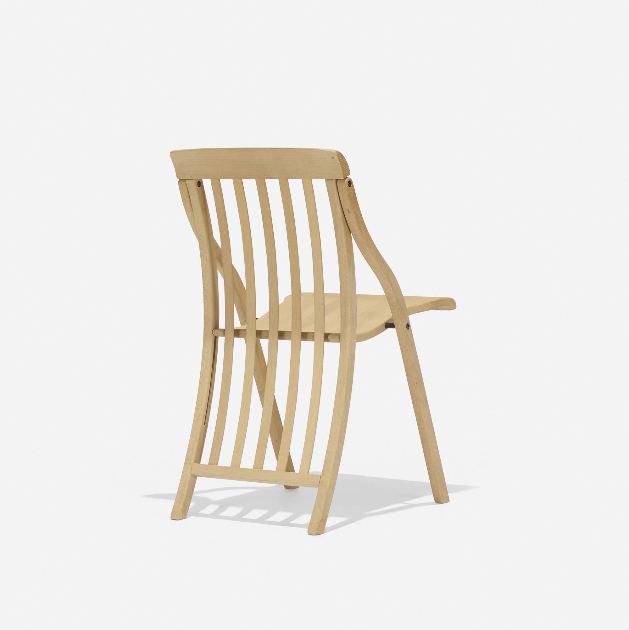 folding chair auction unfinished wood frames 355 michele de lucchi sedia