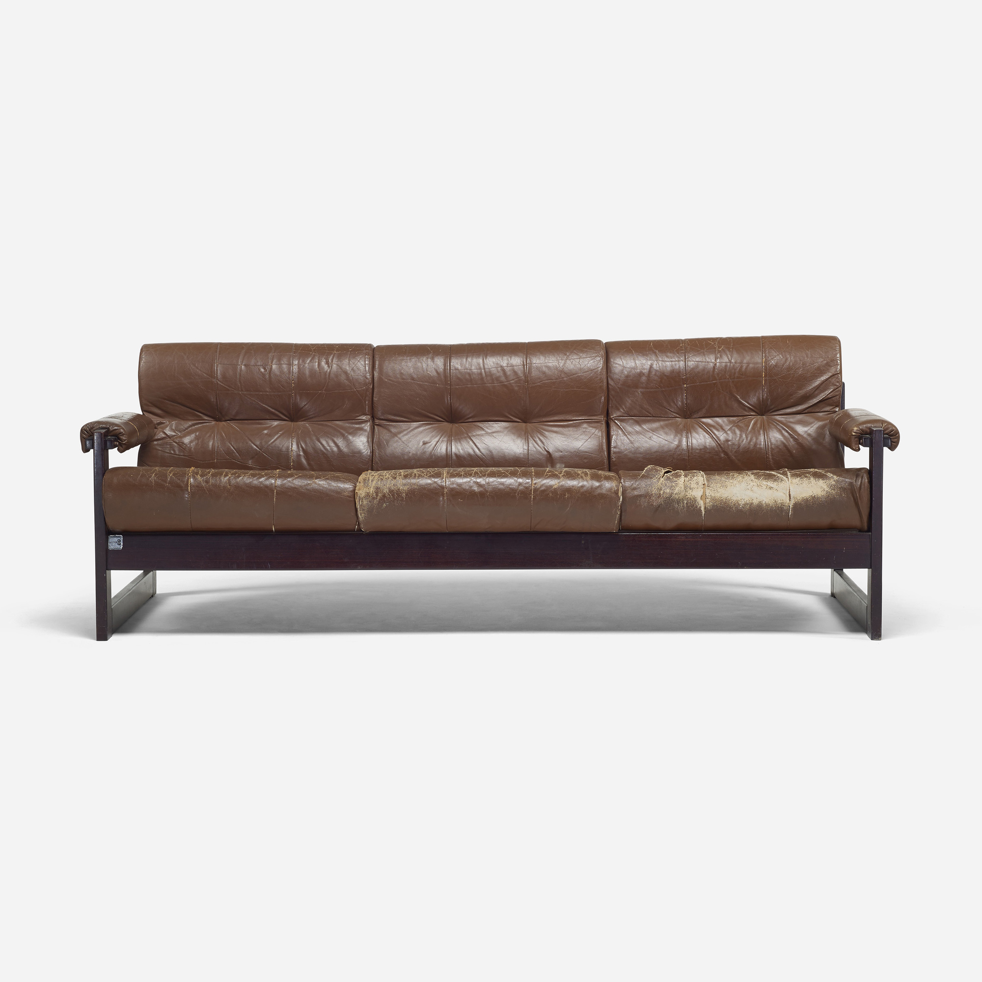 percival lafer sofa laura ashley mortimer 2 seater leather and rosewood at