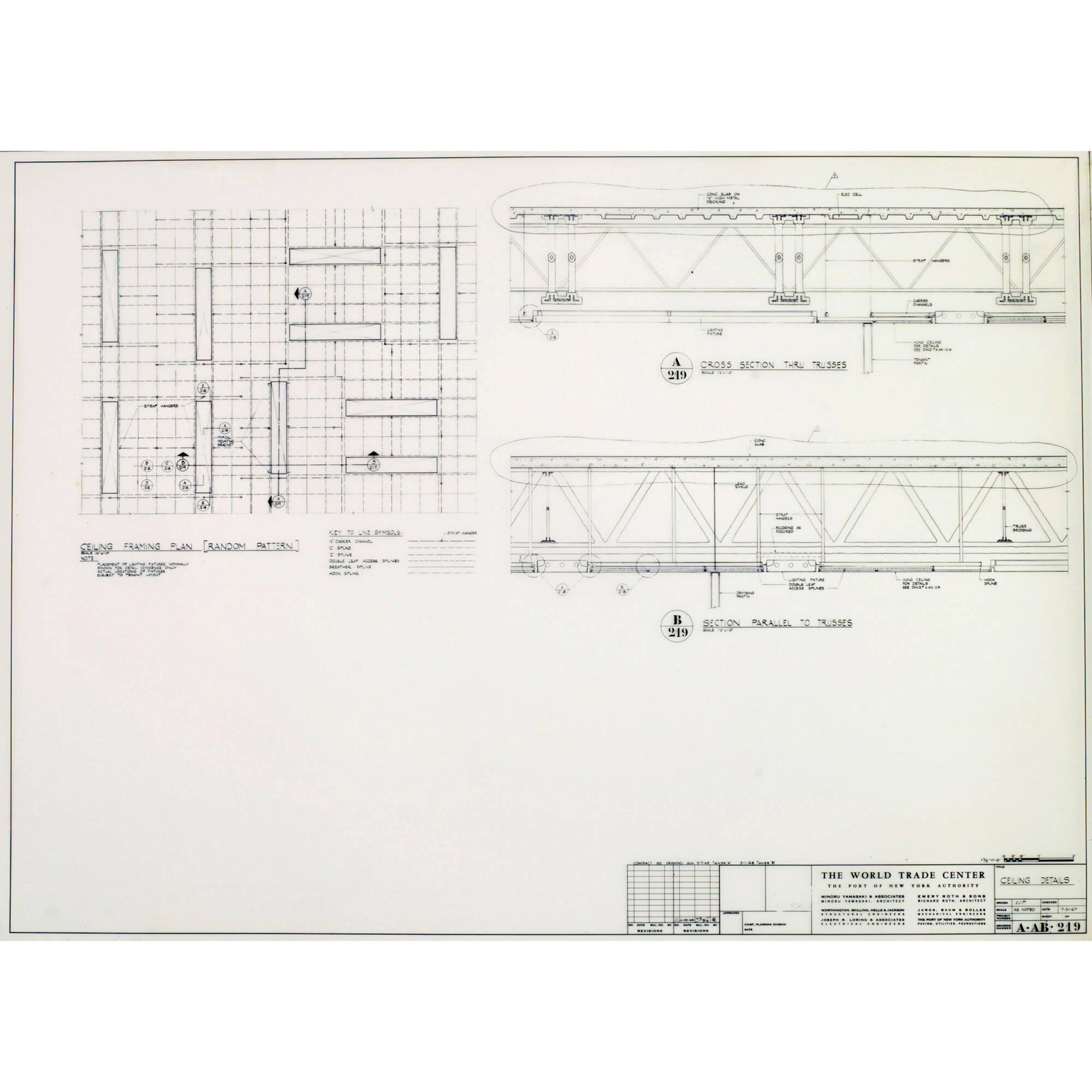 medium resolution of 500 minoru yamasaki associates world trade center north tower ceiling details