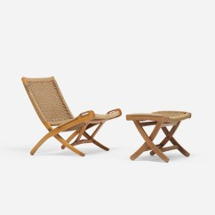 Folding Chair Auction Home Theater Covers 741 After Hans Wegner And Ottoman