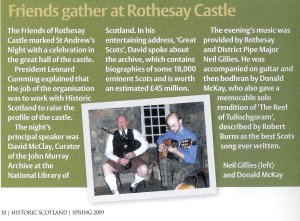 Friends of rothesay castle 2009