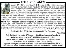 Folk redlands 3rd march 2013