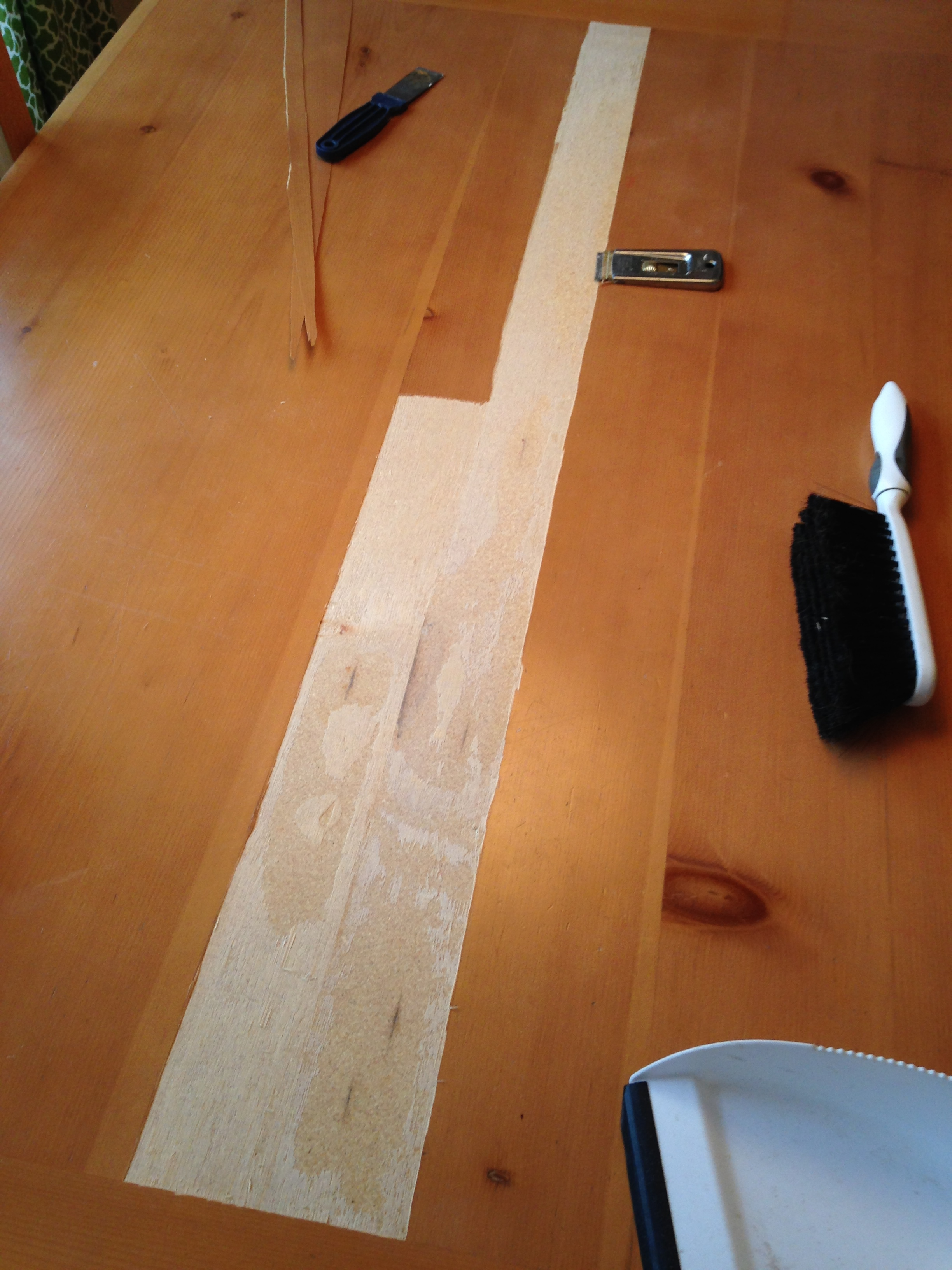 kitchen table top inexpensive remodel replacement wrighters net tabletop with veneer peeled off