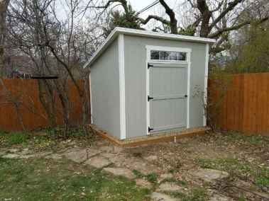 gray lean-to shed