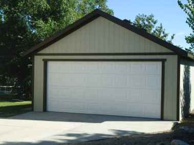 green detached garage