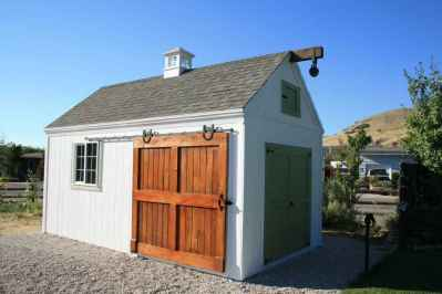 white barn shed