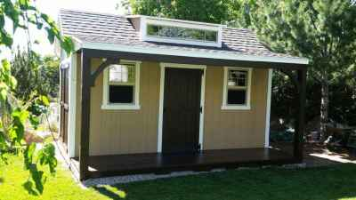Orchard Custom shed with deck and porch
