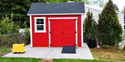 lean-to shed red