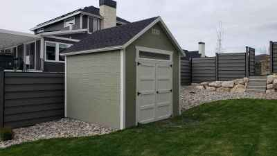 Highland Orchard Shed (side view) - Wright Shed Co.