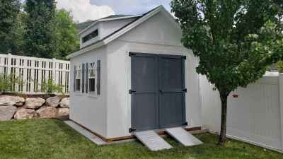 Fruit Heights Orchard Shed with Ramps - Wright Shed Co.