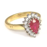Ruby Ring: Ruby Ring Gold With Diamonds