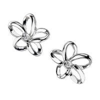 Hot Diamonds Paradise Open Petal Silver Stud Earrings - DE248