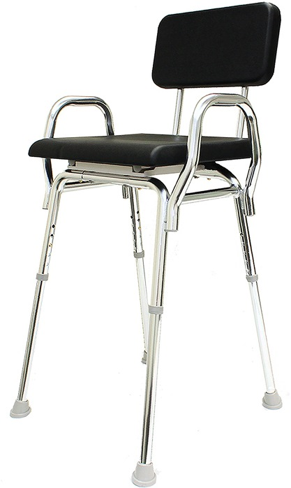 SnapNSave Padded Shower Chair with Armrests
