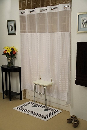 Whitaker Transfer Bench Shower Curtain Adapted Shower