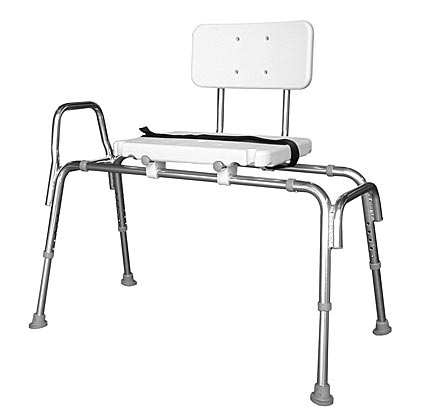 Extra Long Sliding Transfer Bench with Swivel Seat