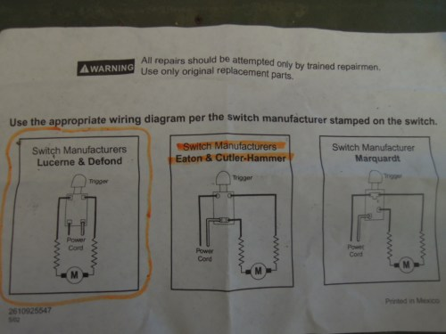 small resolution of skill saw model 5150 switch replacement u2013 wright way restorationsnew trigger supplied wiring diagram which was incorrect skill saw st wright way