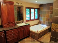 A Slate Master Bath Renovation in Indianapolis