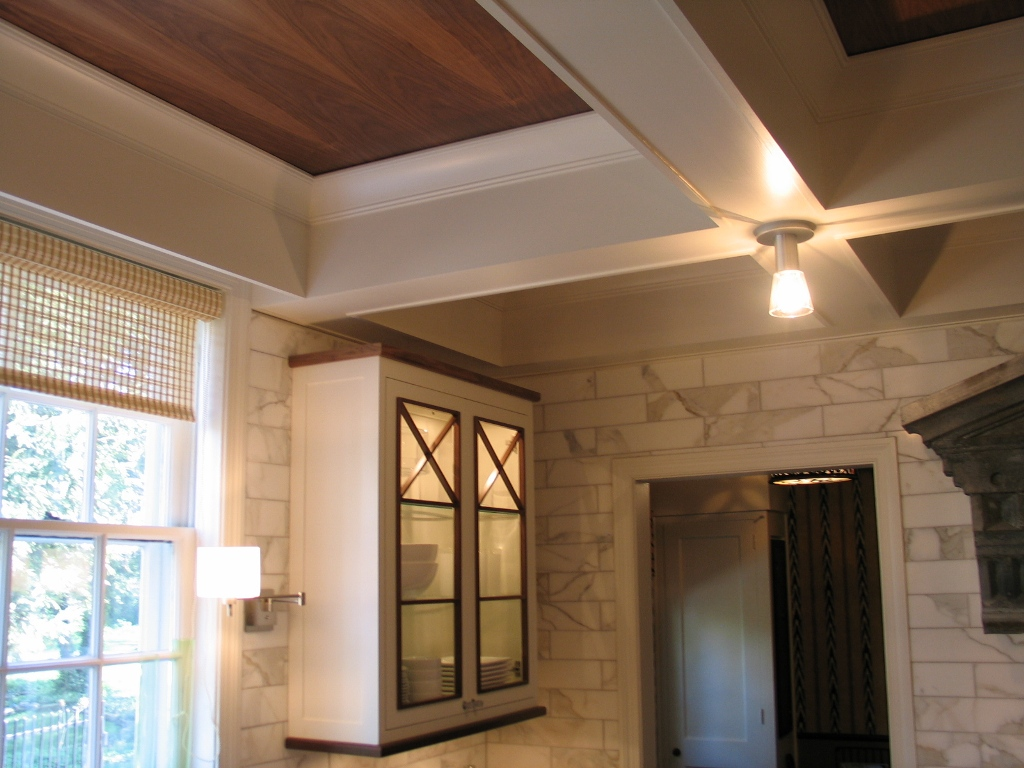 kitchen ceiling ideas backsplashes coffered ceilings in 9 39 should we or shouldn 39t