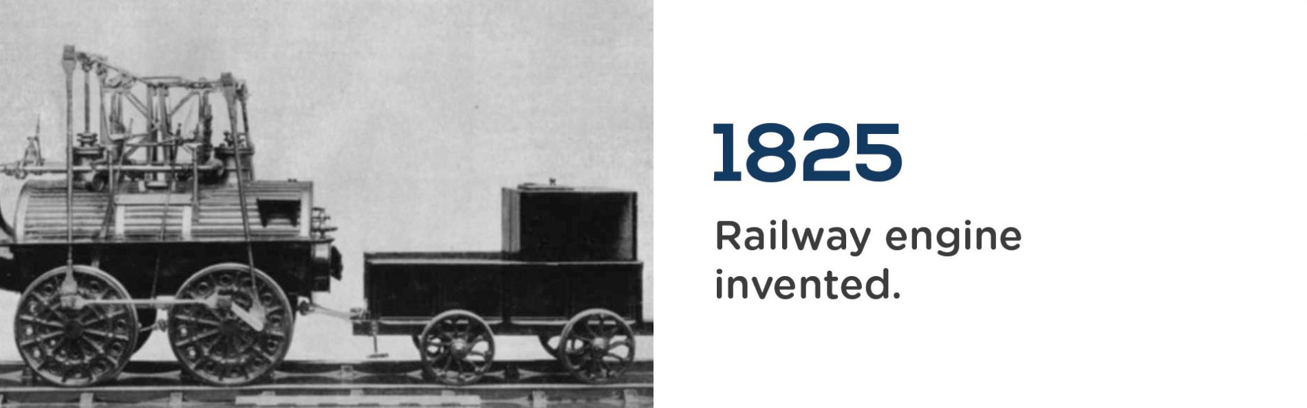 1825, Railway engine invented. Wrigley Claydon Solicitors, Trusted for 200 years