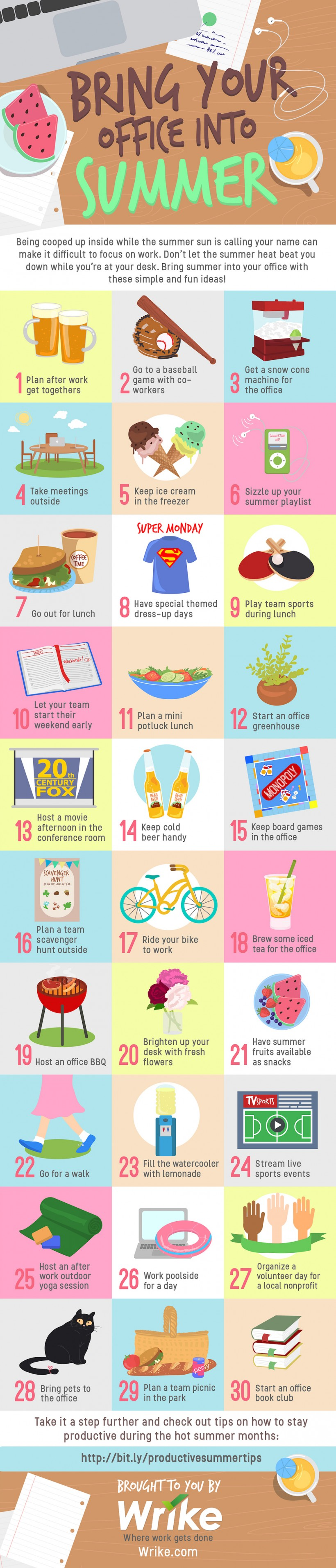 How to Enjoy Summer in the Office (#Infographic)