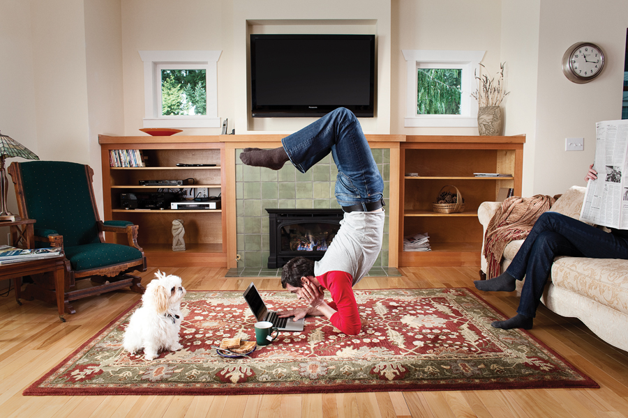 Living Room Yoga  Padded Yoga Gloves  WAGs