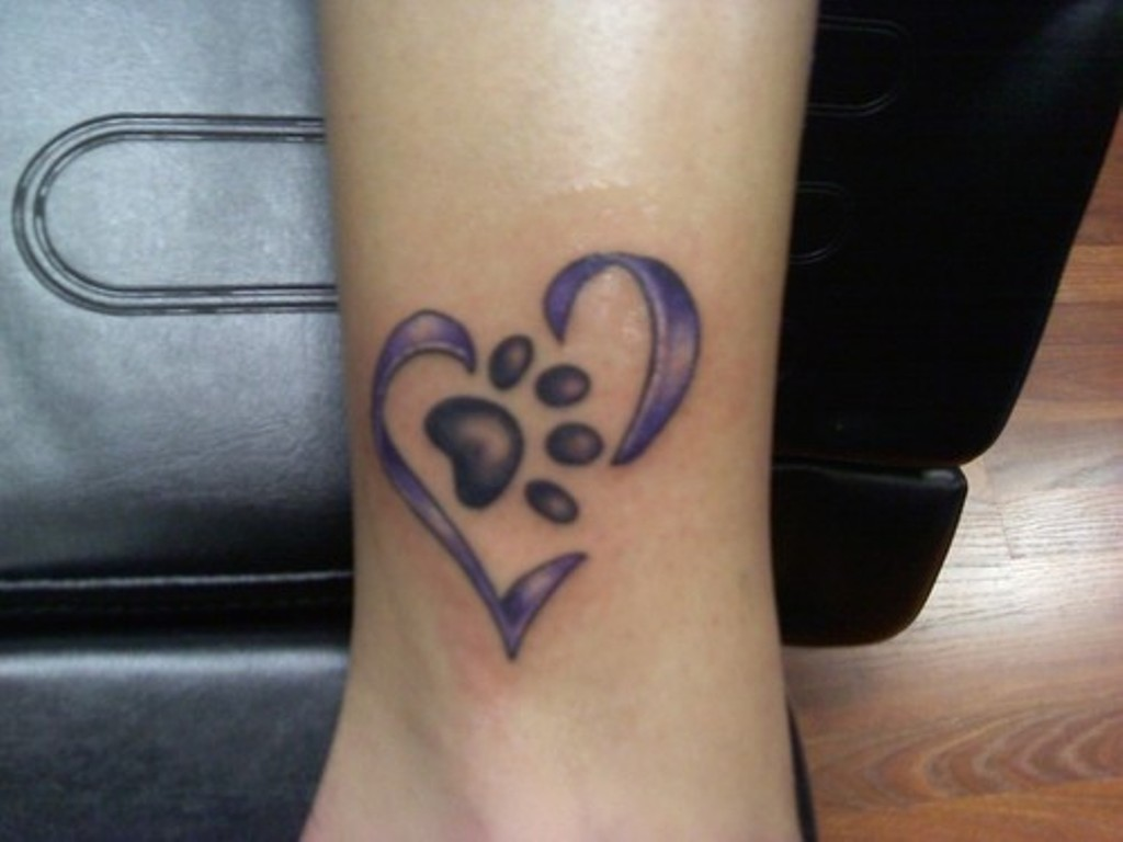 Dog Paw Print Tattoo Wings