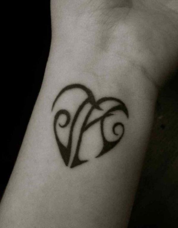J R Alphabet Tattoo