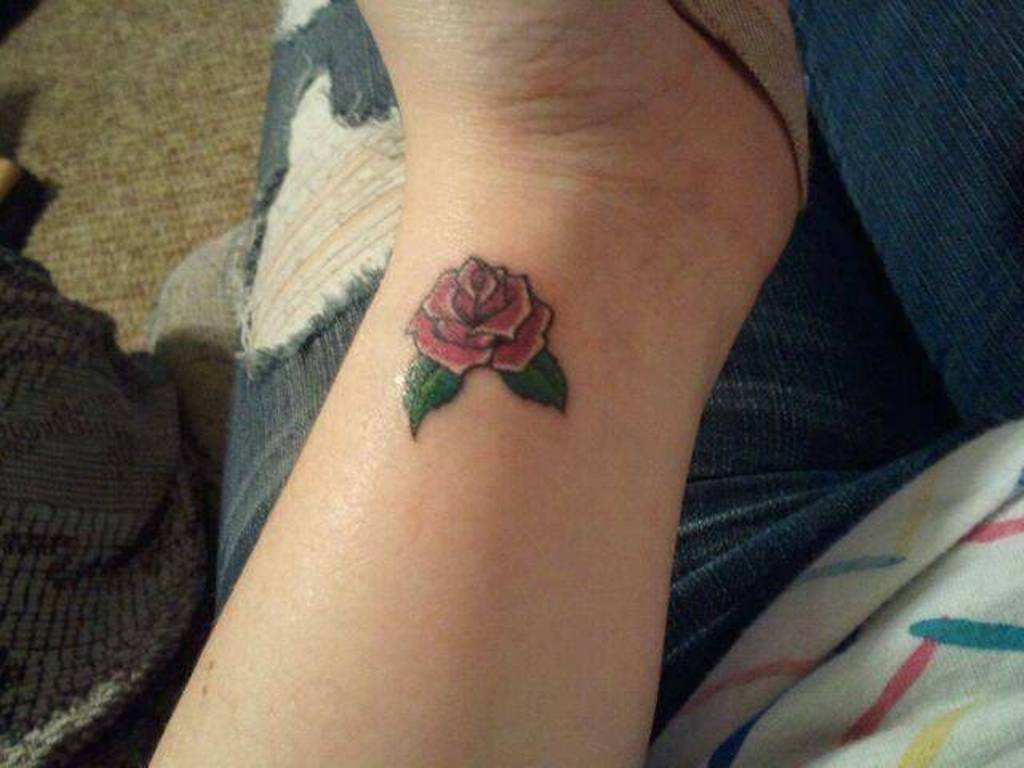 Small Purple Rose Tattoo Designs