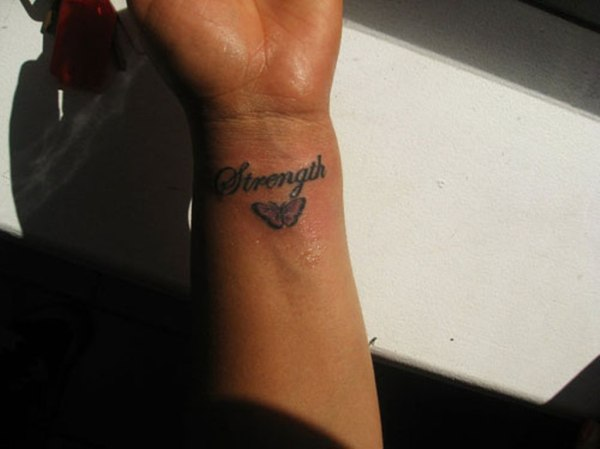 awesome letter wrist tattoos
