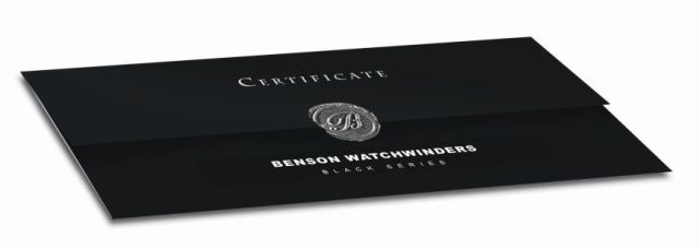 Benson-Watch-Winders-Black-Series-Certificate