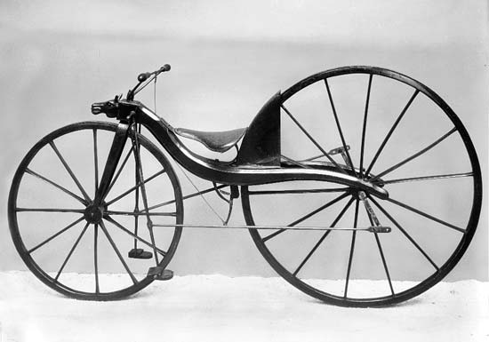 MacMillan's early pedaled contraption