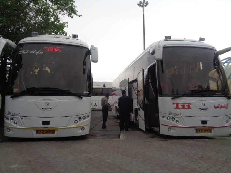 Iran autobusy i przejazdy